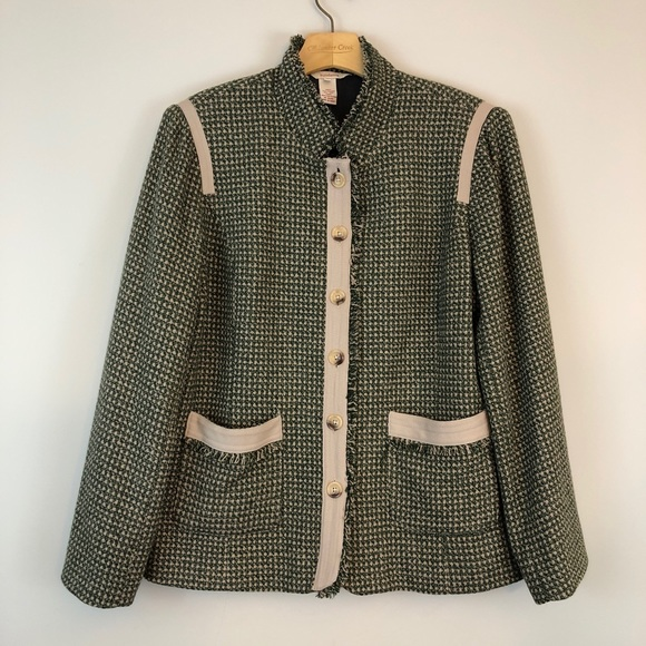 Sundance Jackets & Blazers - Sundance Green Tweed Blazer Jacket